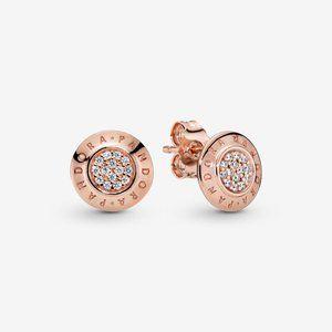 ✨Pandora Sparkling Pandora Logo Stud Earrings